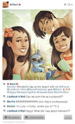 selfie Fables | Lilo and Stitch by SimonaBonafiniDA