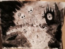 Skeletons. Trick or treat? by 17cherry