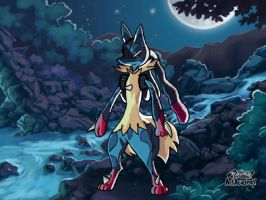 Mega Lucario(Did not do Background) by XetaJTS