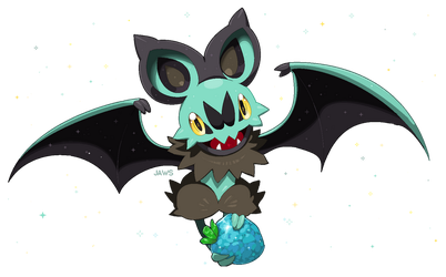 Shiny Noibat by Willow-Pendragon