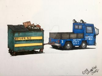 Burden Carrier with a Dumpster  by ArtRock15