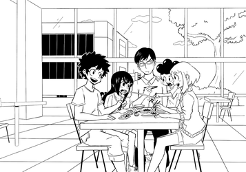Boku no Hero Academia - Out for lunch by CJ-Sanchez