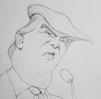 Donald Trump - Caricature drawing by ProfessorPicasso