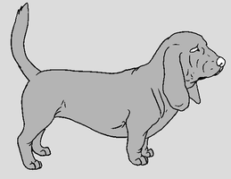 Dog Template - Basset Hound by NaruFreak123-Bases