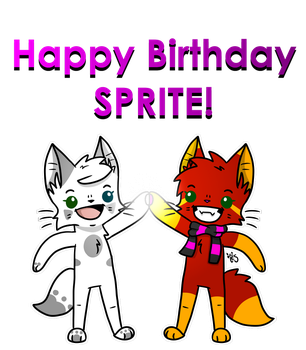 Happy Bday Sprite! by TesArtist