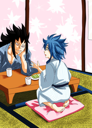 Gajeel y Levy momentos by eikens