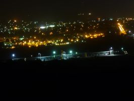 Mt Panorama - Pits by night by IAmMarauder