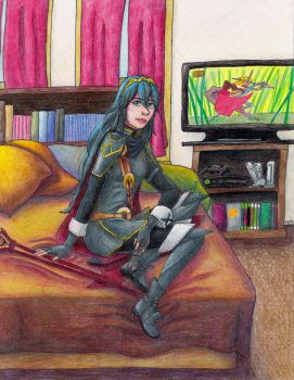 Commission - Lucina Relaxing by ah-kaziya