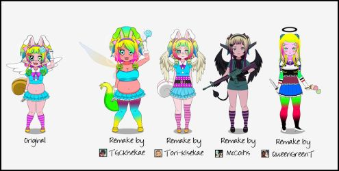SuperKawaiiChubbyChibiGirl Remakes by Viehdieb