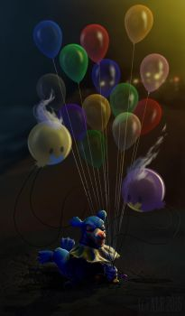 Popplio's Balloons by WheresMyALE