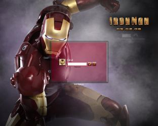Iron Man The Movie Logon by Calal