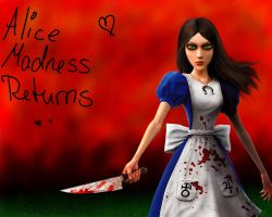 Alice Madness - wallpaper by Faye-Raven