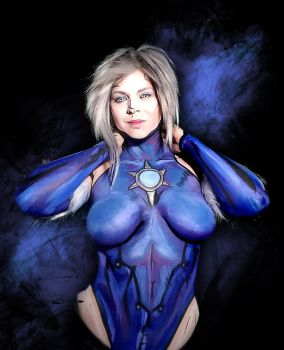 Killer Frost bodypaint by Adnarimification