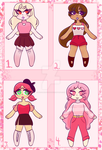 (OPEN) Valentines Day Adoptables Set by Kagamikat2000