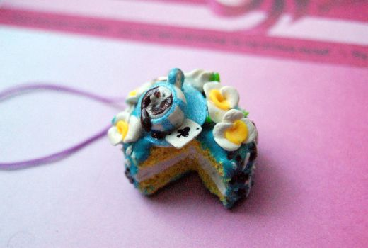 Alice in Wonderland Polymer Clay Cake by FatCatCharms