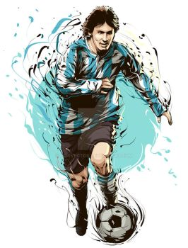Lionel messi by CrisVector