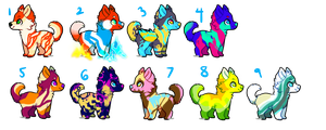 POINT ADOPTABLES!!! - auction - open by RainbowCharizard