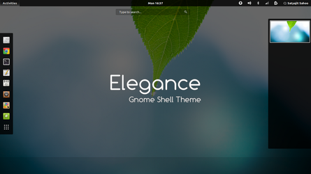 Gnome Shell - Elegance by satya164