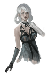 Sketch. NieR. Kaine by LilyDemian