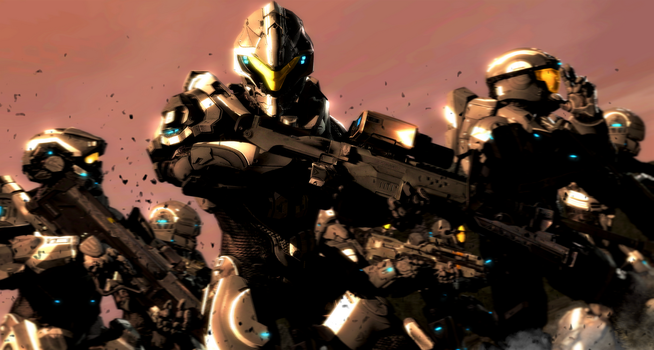 SPARTAN IV Group Onyx Team by LordHayabusa357