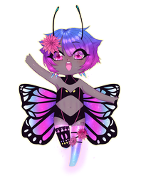Commission #11 Butterfly! by Chiba-Pon