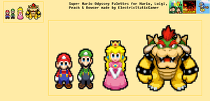 Super Mario Odyssey Colour Palettes by ElectricStaticGamer