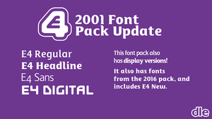 E4 2001 font pack (2017 update) by DLEDeviant