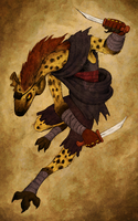 Gnoll Rogue by ceallach-monster
