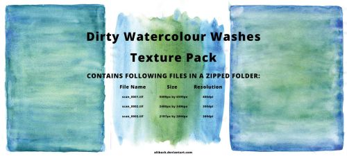 Dirty Watercolour Washes Texture Pack by altback