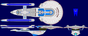 USS Excelsior Refit Multi-View by captshade