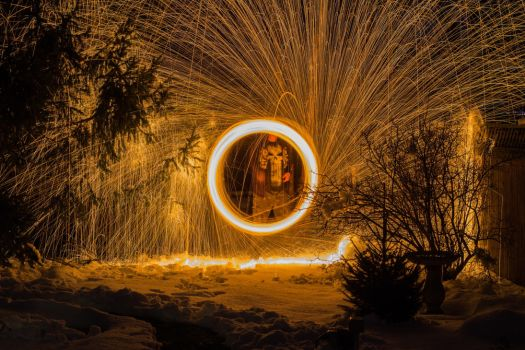 Steel Wool and Snow 12 by WillLeavey