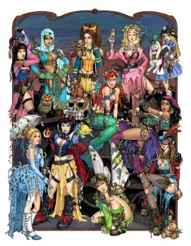 High res Apocalypse Princesses by TessFowler