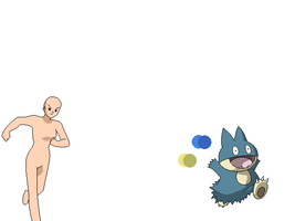 Pokemon girl chasing a Munchlax