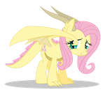 Dracony Fluttershy by DragonChaser123