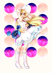 Lillie and Cosmog. Pokemon Sun and Moon by manosu