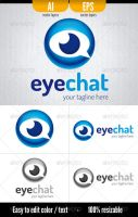 Eye Chat - Logo Template by doghead