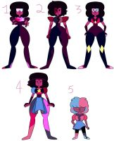 Garnet AU Designs by MiniJen