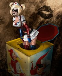 Arkham Harley in the Box by kharis-art