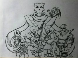 Inktober Undertale challenge day 8 by catgir