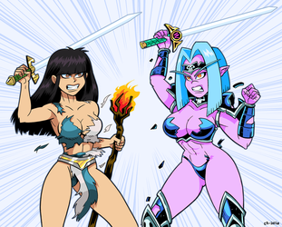 Bitchy Battle Queens by curtsibling