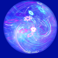 blue sphere abstract by duf20