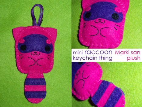 mini Raccoon Keychain by Marki-san-Design