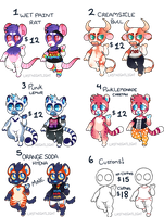 Small Anthro Adopts [CUSTOMS OPEN] by LastNight-Light