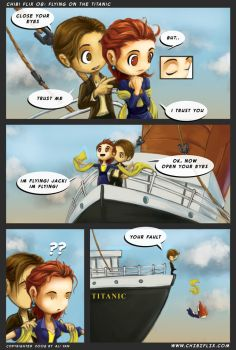flying on the titanic by ChibiFlix