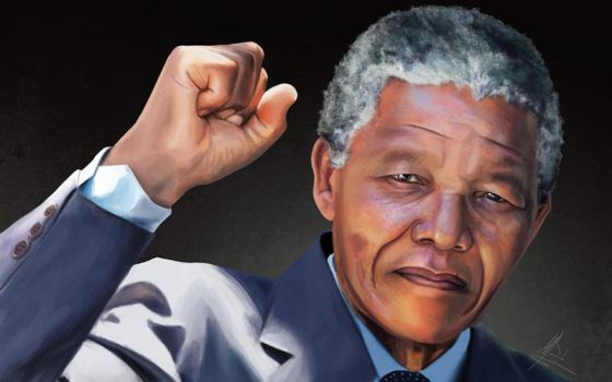 Nelson Mandela portait by Mesrile
