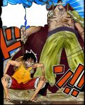 One Piece Chapter 557 Luffy and Whitebeard Colors by Amanomoon