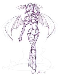 Pinup Lilith Sketch by NoFlutter