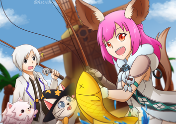 Let's Fishing! by Astrid-RenjiKoyuki