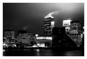 Canary Wharf at Night by ash