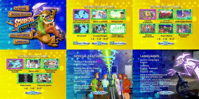 Scooby-Doo and The Cyber Chase DVD Menus by dakotaatokad